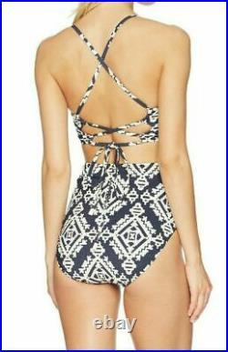 Tory Burch Swimwear Women's Tapestry Geo One-Piece Tory Navy Medium