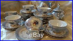 VERITABLE VINTAGE 60's PORCELAIN 27 pieces set COFFEE TEA SET MADE IN ITALY