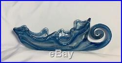 VINTAGE Murano Style ArtGlass Italian Hand Blown Gondola Center Piece Fruit Bowl