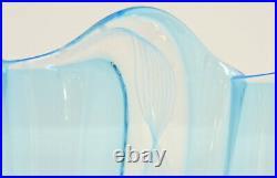 Vase Glass Murano Authentic Reticello Bowl With Edge Collar Piece Single
