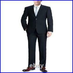 Verno Albani Men'S Dark Navy Slim Fit Italian Styled Two Piece Suit
