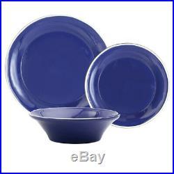 Vietri Viva Chroma Blue 3-Piece Dinner Place Setting Italian Dinnerware Set