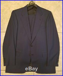 Vintage 90's Brioni Italian Suit, Two Piece, 42r 36w, Blue