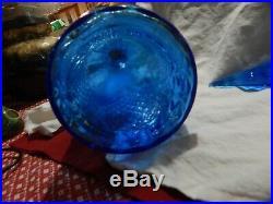 Vintage Empoli Italy Genie Bottle Blue Diamond Pattern WithStopper/family piece