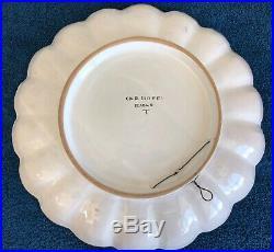 Vintage Italian 3 Piece Set Vase Platter Pot Blue White Carcioffi Riolo Terme