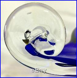 Vintage Italian Art Glass Cobalt Blue Bowl Center Piece GORGEOUS Stunning