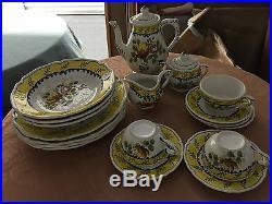 Vintage Italian ceramic 7 pieces Villa d'Este