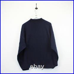 Vintage LEVIS 90s Sweatshirt Spell Out Jumper Navy Blue XL