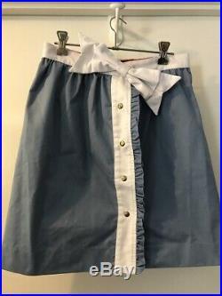Vivetta Blue and White Medium 2 piece Italian suit