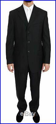 Z Zegna Solid Blue Italian Regular Fit Two Piece Wool Suit EU54 US44 XXL